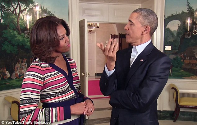 [Watch] This will Make you Cringe: Barack and Michelle Pretend to Goof Around in Her New 'Let's Move video'