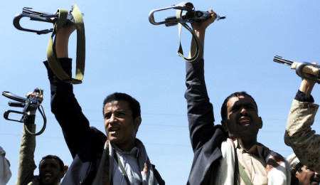 Clashes between Yemen's presidential guards and Shiite Houthi rebels