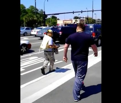 [Watch] Veteran explodes 'Take Off My Uniform!' At 'Fake' Uniform-Wearing Panhandler