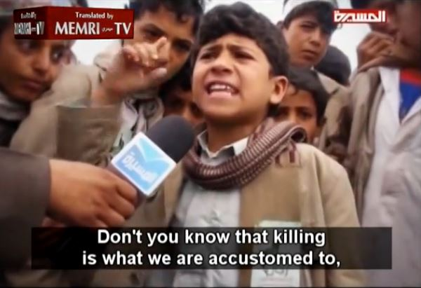[Watch] Disturbing: Houthi Children Call For 'Death to America!' and 'Killing is a Blessing!'
