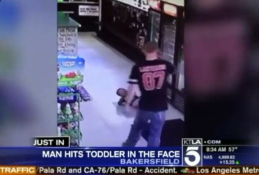 [Watch] Shocking Video Of Man Punching Toddler In The Face