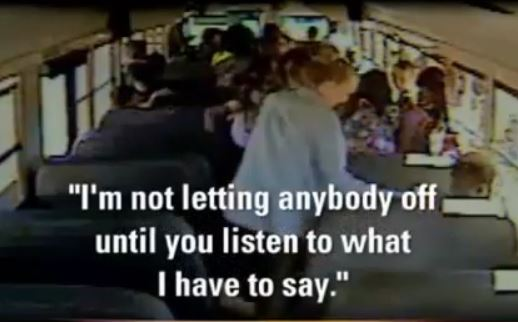 [Watch] Bus Driver Locks Children On School Bus As They Cry And Beg To Be Let Out