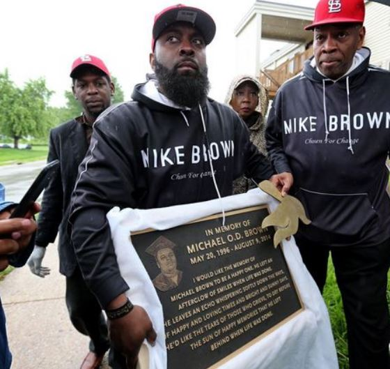 City of Ferguson Installing Memorial Plaque For Mike Brown
