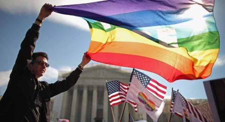 Supreme Court Hears Arguments On California's Prop 8 And Defense Of Marriage Act