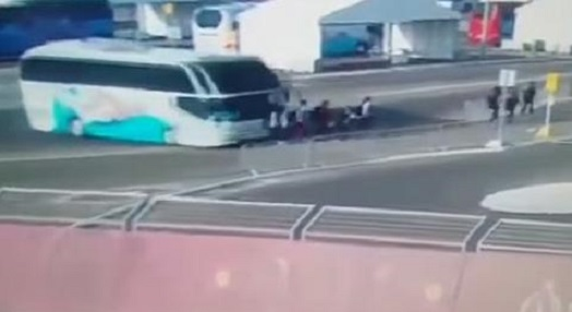 Horrific Moment Bus Driver Plows Into Austrian Swim Team Attending European Games [Disturbing Video]