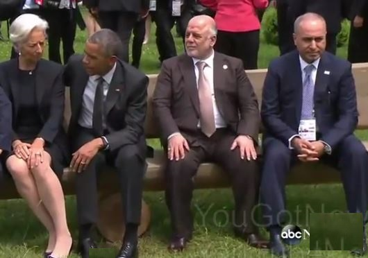 Awkward Moment When Obama Snubs Iraqi Prime Minister at G7 Summit [Video]