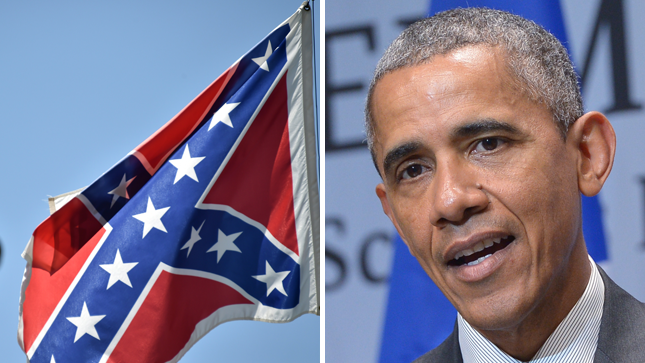 Obama Celebrates Removal Of Confederate Flag