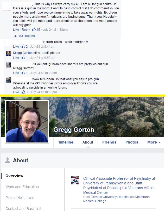Veteran Affairs Psychiatrist Tells Veteran Facebook User To 'Off Yourself'