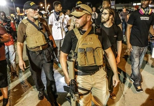 BOOM: White Oath Keepers Are Arming THESE People With AR-15's For March In Ferguson (Video)