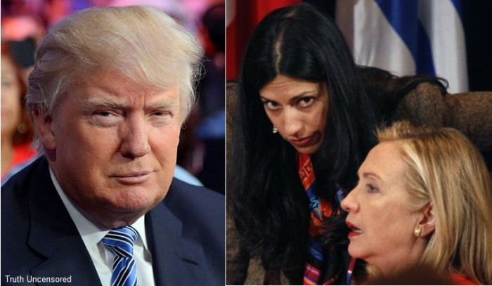 Hillary Fumes After Trump Calls Huma's Husband A 'Perv' And 'Sleazebag' [Video]