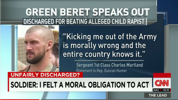 Green Beret Discharged For Beating Alleged Afghan Child Rapist Tells His Side Of The Story