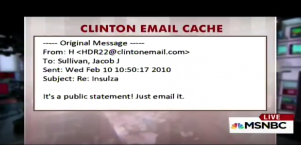 Shock Over Hillary Clinton's Response To Staffer Who Refused To Send 'Classified' Email