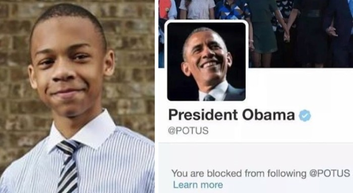 President Obama Blocks His 13-Year-Old Critic CJ Pearson On Twitter