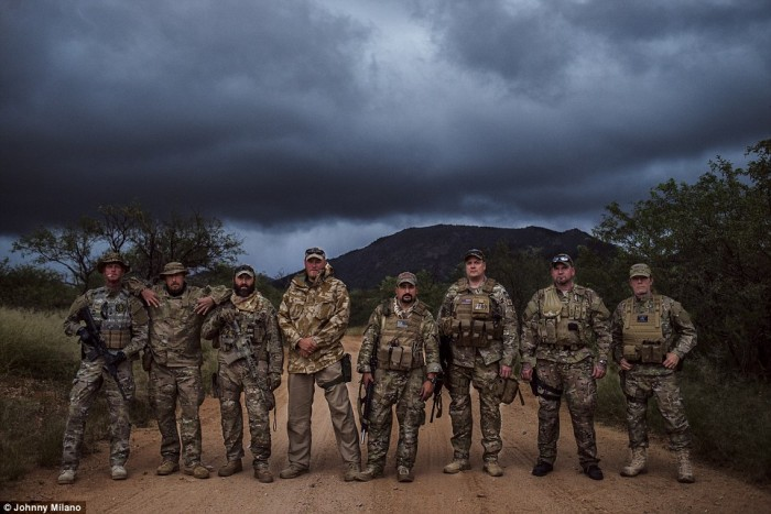 Meet The Band Of Brothers:  Heavily Armed Vigilantes Led By A Veteran Dubbed 'Nailer' Act As The Final Guard Against What They Call An 'Immigrant Invasion' (Video)