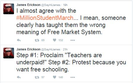 Marine DESTROYED #MillionStudentMarch Crazies With Single Tweet