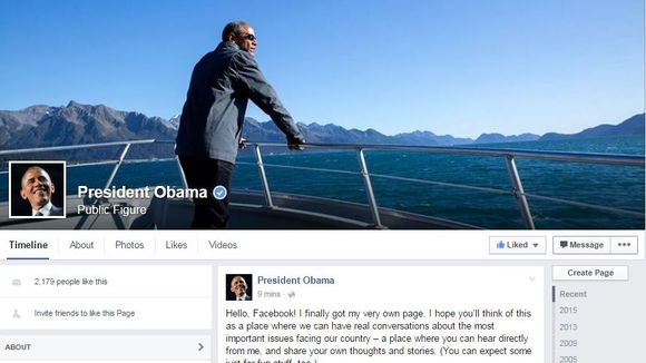 Obama Joins Facebook… Read His First Post And Watch The NARCISSISTIC Video He Made
