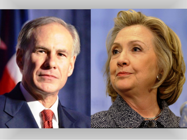 Hillary Spars With Texas Governor Over Houston's Refusal To Allow Men In Ladies' Rooms