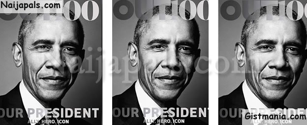 Obama Becomes First Sitting President To Pose For Cover Of LGBT Magazine