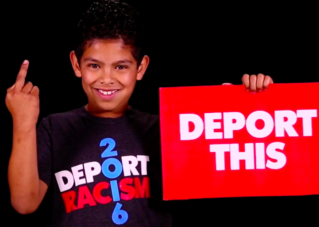 Video–Latino Kids Blast Donald Trump: 'F*ck you, racist f*ck!'