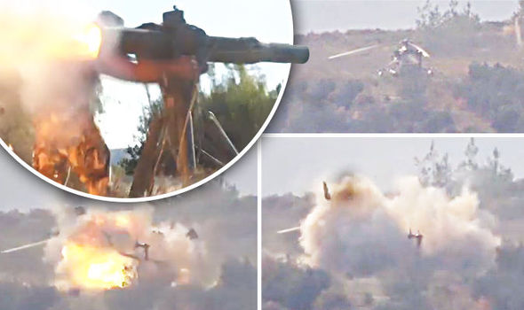 Syrian Rebels Launch Rocket Attack On Rescue Helicopter 'KILLING Russian Marine' (Video)