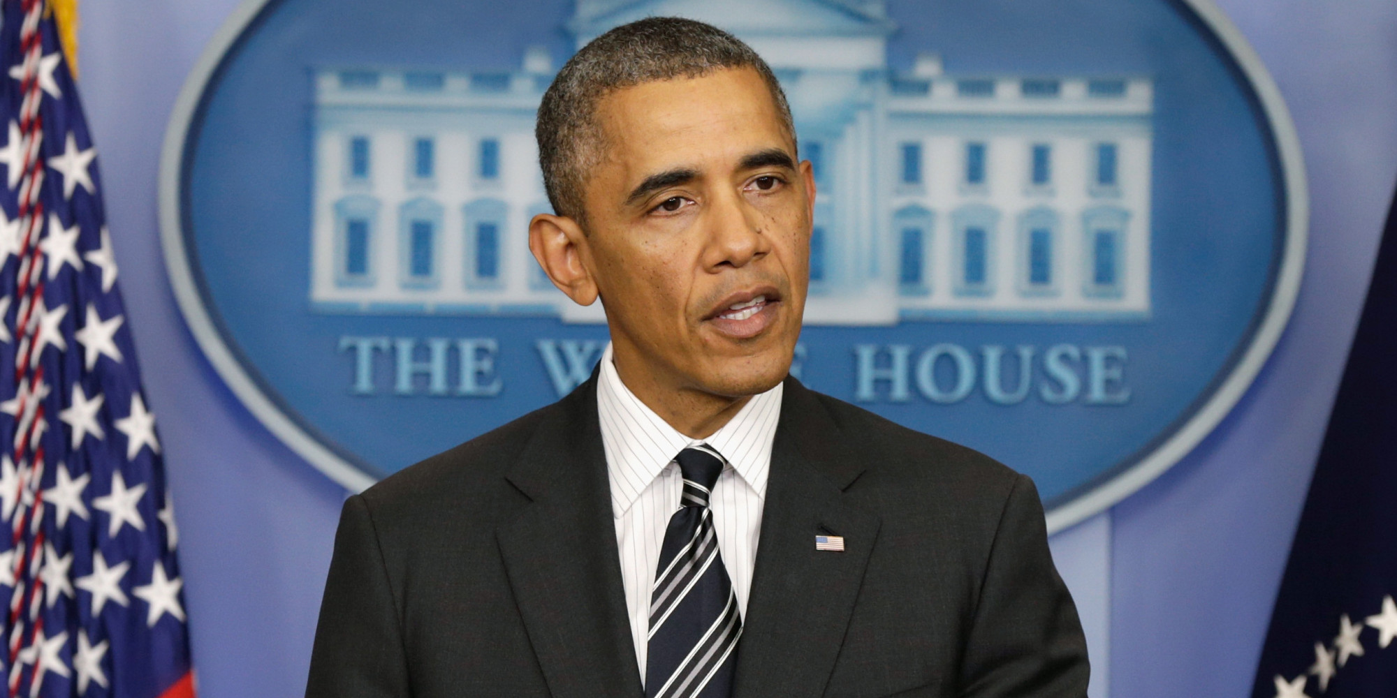 President Obama Makes Statement In Brady Briefing Room