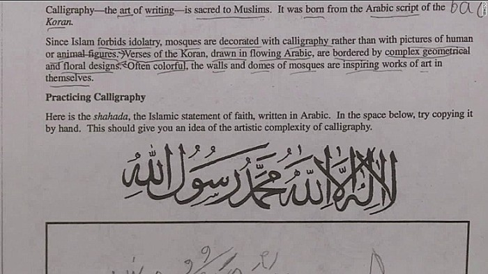 Virginia Schools Shut Down Over Islam Lesson Praising Allah As 'ONE TRUE GOD' (Video)