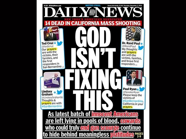 NY Daily News Mocks Republican's Who Invoke God And Not Gun Control – 'God Isn't Fixing This'