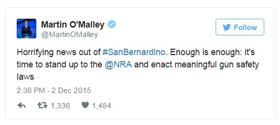 Dem. Presidential Candidates Immediately Call for Stricter Gun Control After San Bernardino Shooting