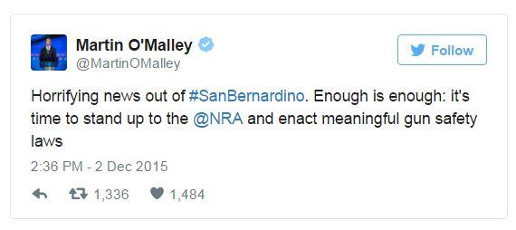 Dem. Presidential Candidates Immediately Call for Stricter Gun Control After San Bernardino Shooting