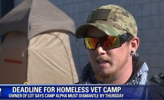 HOMELESS Veteran Camp Ordered To DISMANTLE While Refugees Get Food, Cash And Benefits For LIFE (Video)