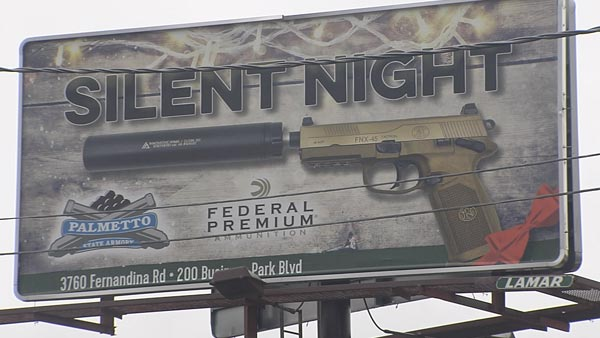 Is This Ad Offensive? Gun Retailer's Ads Create Christmas Controversy (Video)