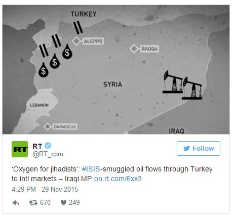 Russia Has 'More Proof' ISIS Oil Routed Through Turkey, Erdogan To Resign If True