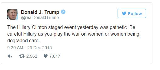 Donald Trump Puts Hillary Clinton On Notice 'You're Going Down'