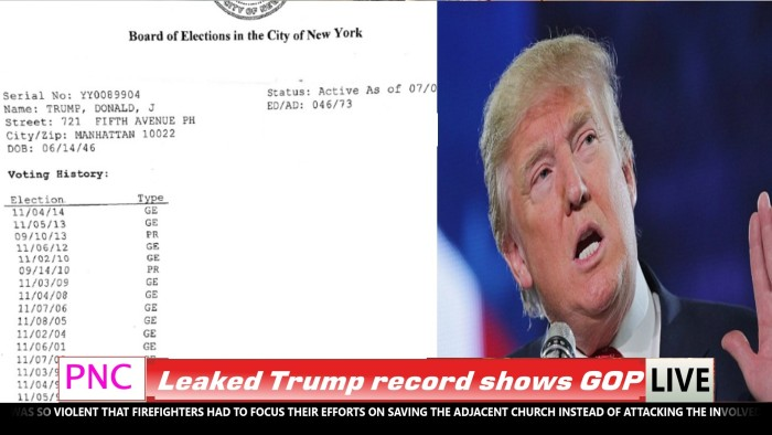 SHOCK: Donald Trump's Official Voting Record Released By New York City