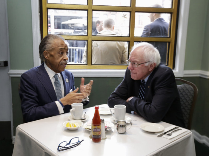 Kissing The Ring: Bernie Sanders Breaks Bread With Al Sharpton (Video)