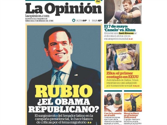 La Opinión Magazine: Marco Rubio Is a 'Republican Obama'