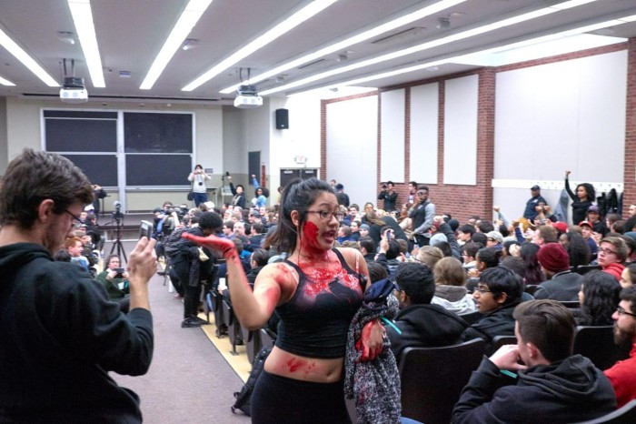 Fake Blood And War Chants: Milo Yiannopoulos Event At Rutgers Disrupted By Feminists, Black Lives Matter Activist (Video)