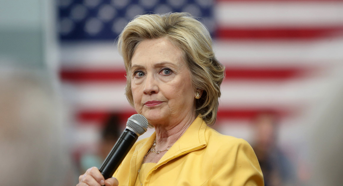 Democratic presidential candidate Hillary Rodham Clinton listens to questions during a campaign stop ,Tuesday, July 28, 2015, in Nashua, N.H. (AP Photo/Jim Cole)