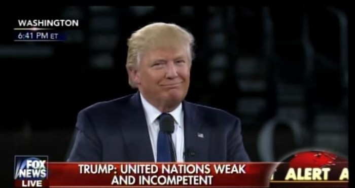 Trump At AIPAC: 'United Nations WEAK And INCOMPETENT, Not A Friend To Freedom, Israel Or U.S.'  (Video)