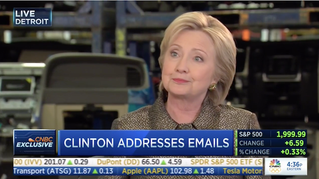 Clinton: 'I've Been The Most Transparent Public Official In Modern Times' (Video)