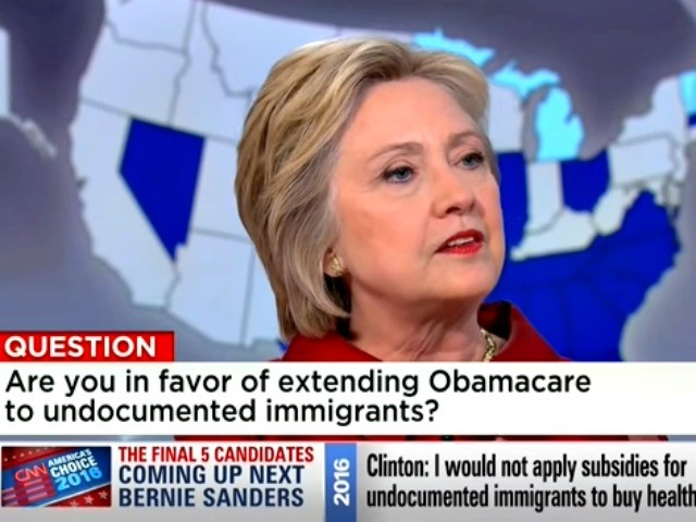 Hillary Clinton: 'Illegal Immigrants Should Be Allowed To Get Taxpayer-Funded Obamacare' (Video)