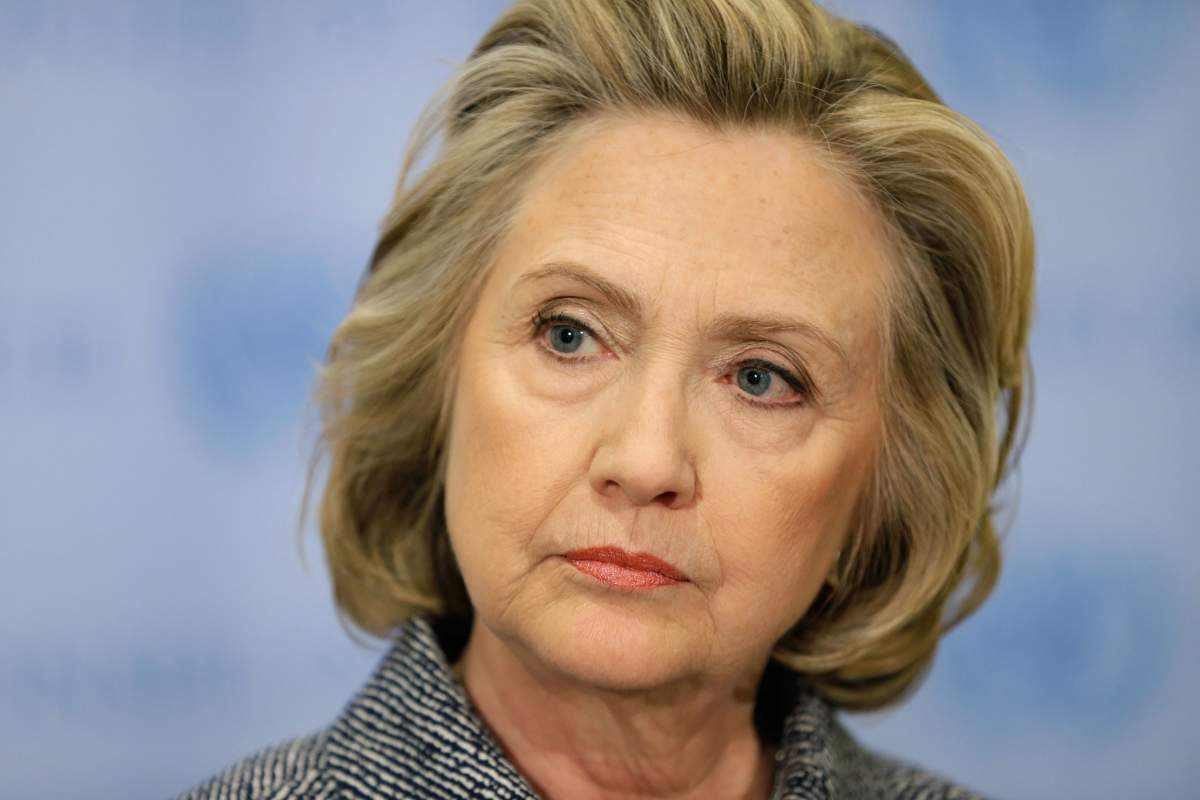 "Hillary Rodham Clinton speaks to the reporters at United Nations headquarters, Tuesday, March 10, 2015. Clinton conceded that she should have used a government email to conduct business as secretary of state, saying her decision was simply a matter of ""convenience."" (AP Photo/Seth Wenig)"