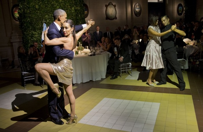 Obama Dances The Tango As Brussels Burns- Ignores Calls To Come Home (Video)
