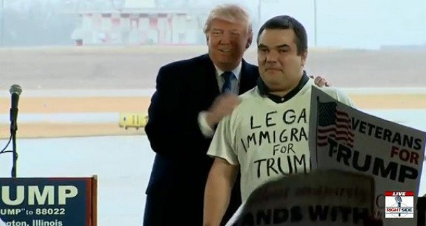 Trump Brings Legal Immigrant on Stage In Illinois Who SLAMS Lying Media – Endorses Trump (Video)