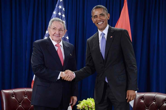Presidents Barack Obama And Raul Castro Meet In Havana