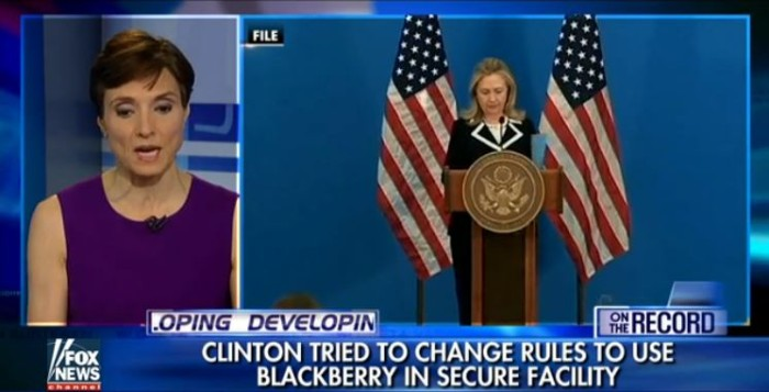 Hillary Clinton Tried To Change Rules To Use Blackberry In Secure Facilities (Video)