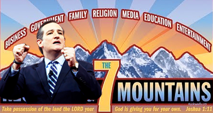 "Cruz Cult Exposed: ""Religion"" Of 7 Mountain Strategy A Cult Of Heidi's NWO"