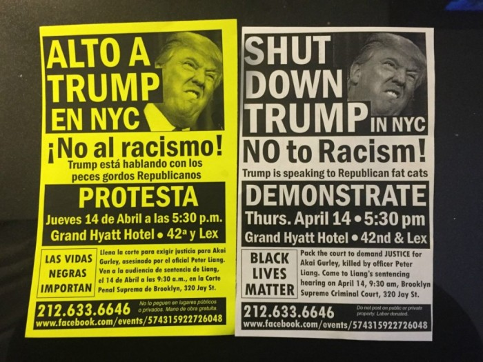 Anti-Trump Protesters Plan For 'Medics' And 'Jail Support' As They Aim To 'Shut Down' Manhattan Thursday Night