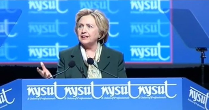 New York Teachers Union Boos Hillary After She Praises State's Governor (Video)