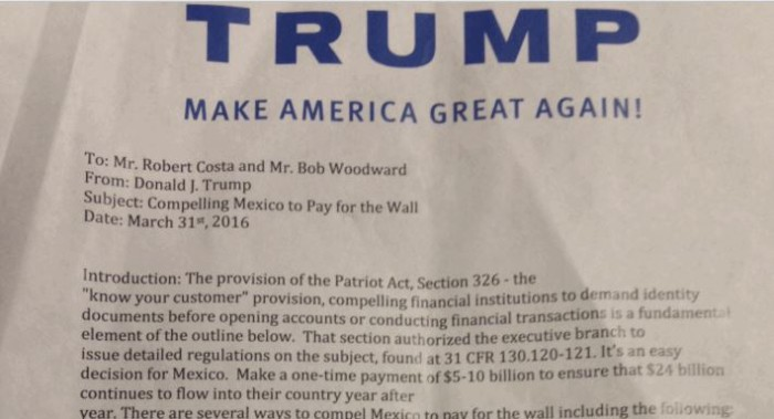 Trump Reveals How He Would Force Mexico To Pay For Border Wall